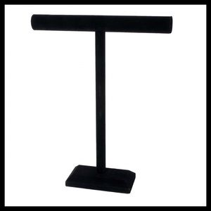 NEW! Darice Tall Black Velvet Jewelry T-Stand